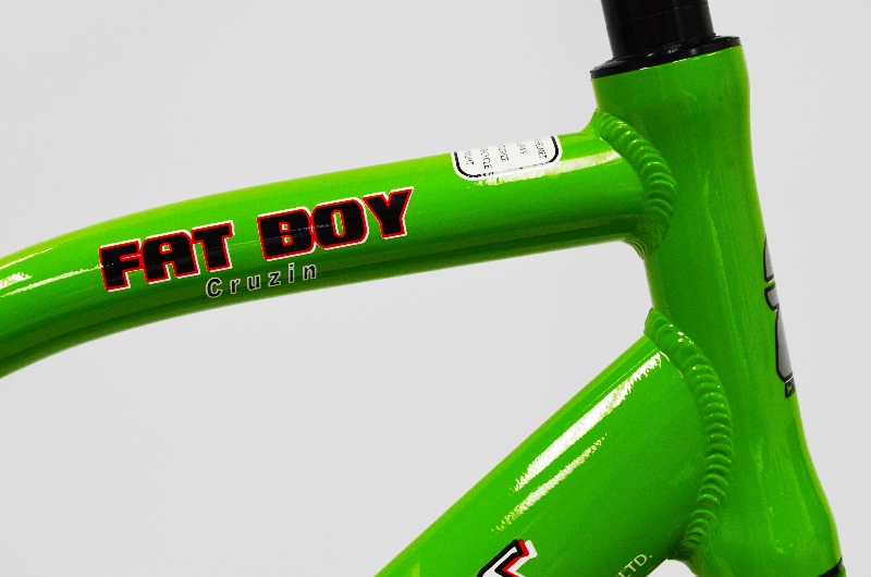 Green Fat Boy Head Tube