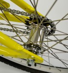 Aluminum Alloy Rear Hub with 12 Gauge Spokes
